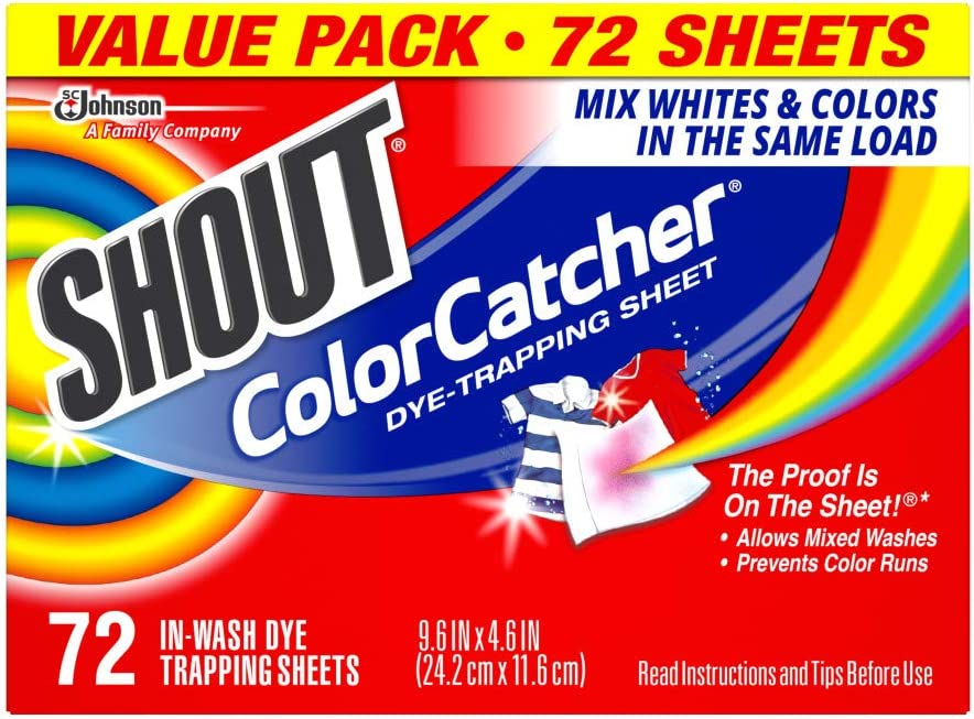 Shout Color Catcher Sheets for Laundry, Maintains Clothes Original Colors, 72 Count: Health & Personal Care