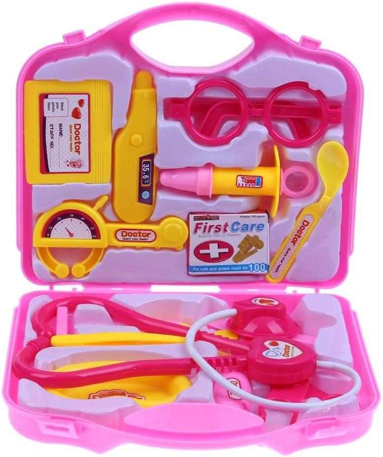 Juego de 15 maletas para niños, para médicos, enfermeras, maletas, herramientas médicas Talla:Pink