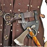 Medieval Gears Brand Genuine Leather Medieval Axe Hanger Viking Hatchet Tomahawk Holder Costume LARP