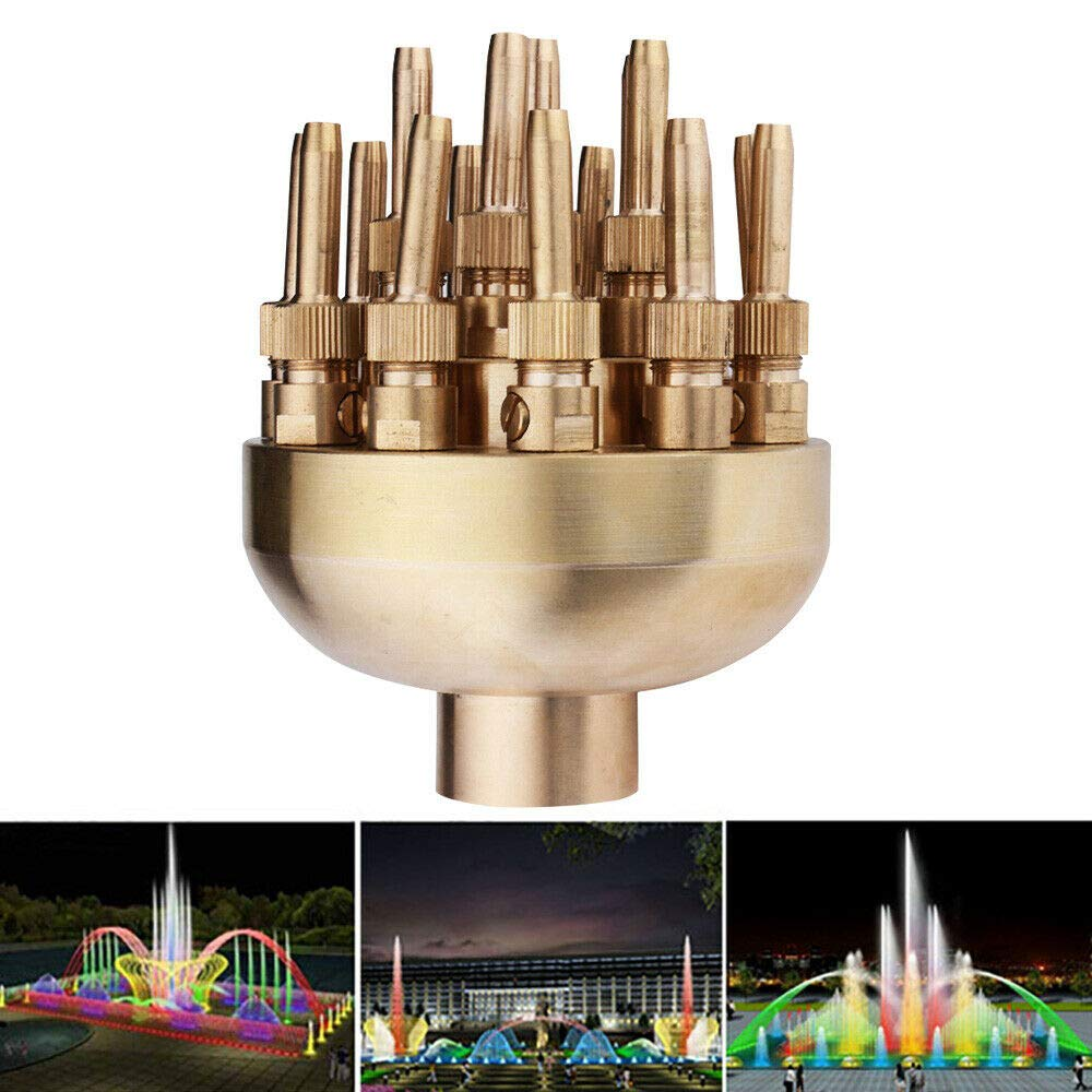 TFCFL 1.5'' inch Fountain Nozzle 19 Flower Sprinklers Spray Head for Pond Pool Fountain for Garden Pond, Amusement Park, Museum, Library