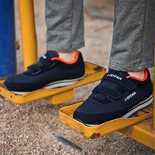Slip-on-beiläufige leichte Outdoor-Sneaker rutschfeste ältere mittlere Wanderschuhe Svorhaut-Männer Dunkelblau