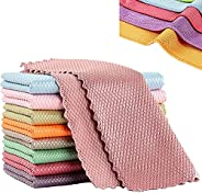 Nanoscale Cleaning Cloth, Nanoscale Streak-Free Reusable Cleaning Cloths, Fish Scale Microfiber Polishing Clea