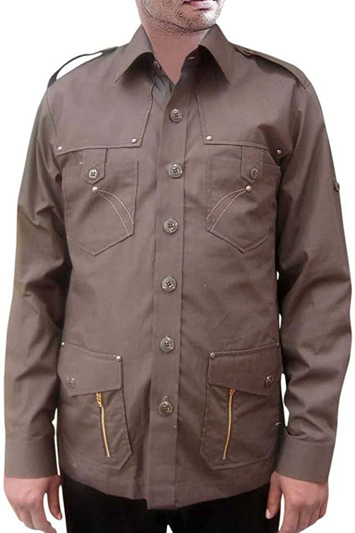 INMONARCH para Hombre Safari Camisa para Hombre para ...