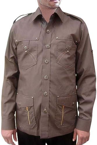 INMONARCH para Hombre Safari Camisa para Hombre para Caza Color marrón Oscuro algodón Bush de Bolsillo (4 Camisas HS104: Amazon.es: Ropa y accesorios