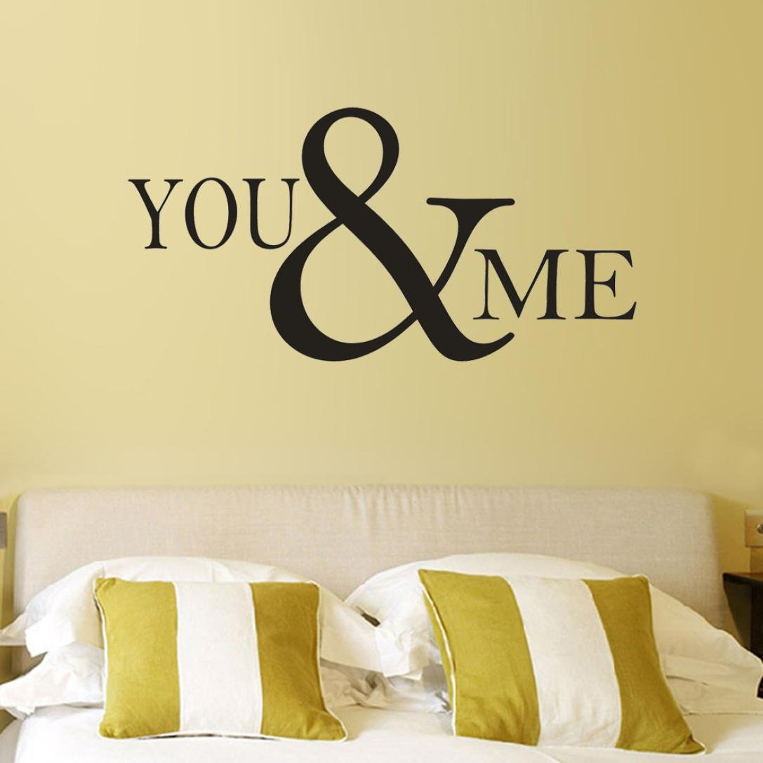 Dirance You&Me Wall Stickers Self-Adhesive, Quotes Inspiration Words ...