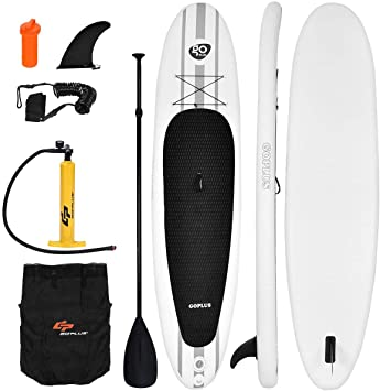 Amazon.com: goplus hinchable 11 Sup Stand Up Paddle Board W ...