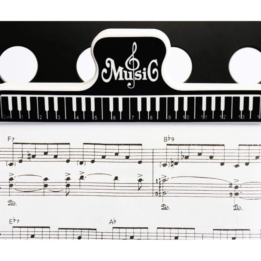 ... de página de música, abrazaderas para carpeta, herramientas, soporte de música, piano, pinza para libro, color negro: Amazon.es: Instrumentos musicales