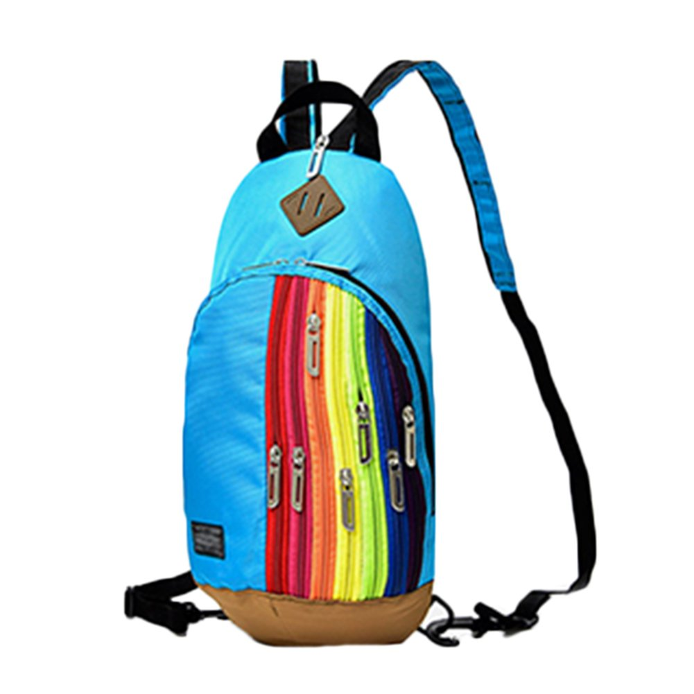 ab6d7276dc52 Sport-Saymequeen Fashion Rainbow Zipper Travel Sling Bag Multipurpose  Backpack cheap
