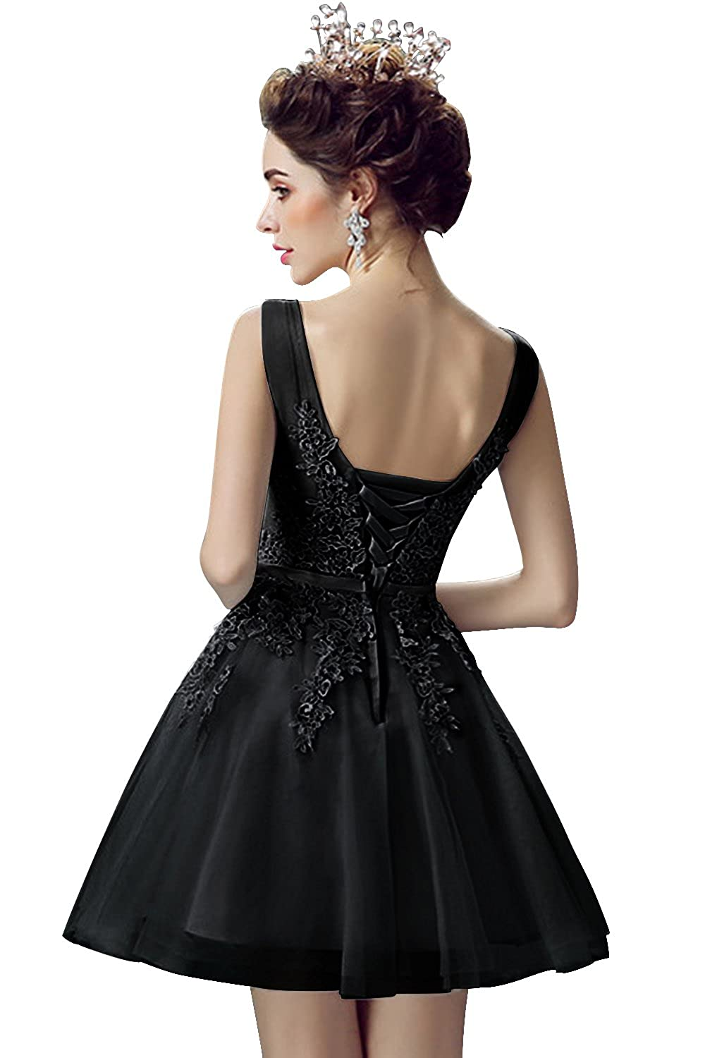 Babyonlinedress Tulle Lace Applique Junior s Formal Cocktail Homecoming  Dresses at Amazon Women s Clothing store  a096e65ae505