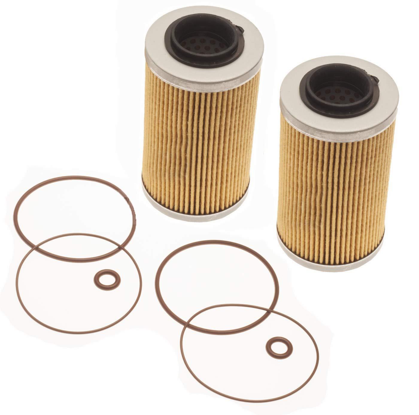 Sea Doo Oil Filter & O-Ring Kit GTI GTS Se GTR GTX SC RXP RXT RXPX RXTX 2-Pack by Titan Performance