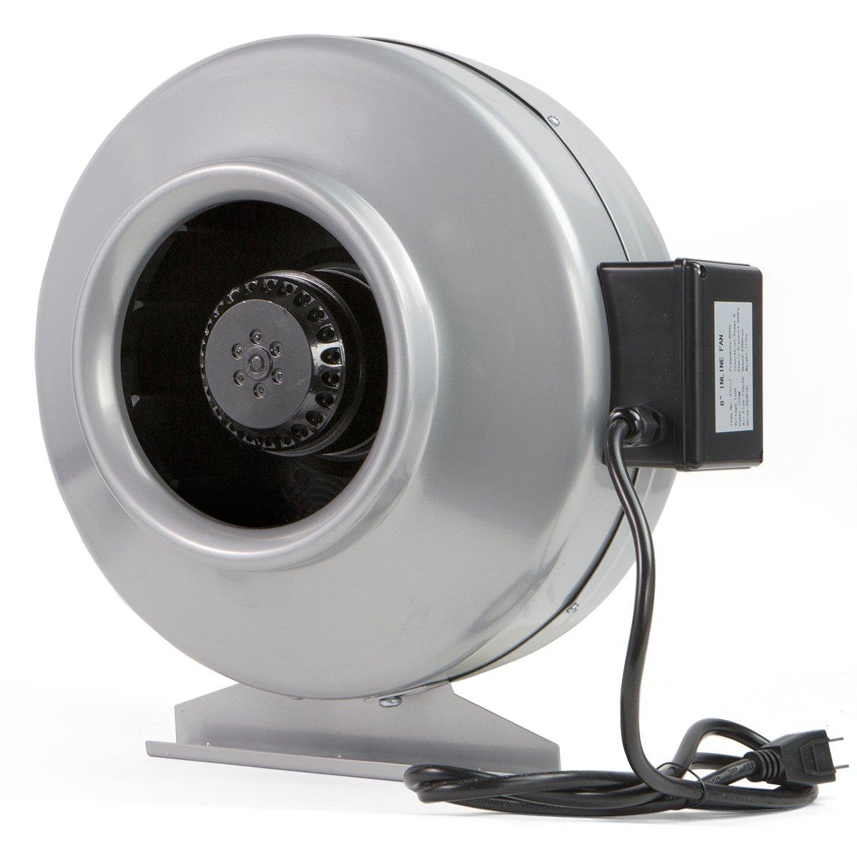 XtremepowerUS Inline Duct 8'' 770 CFM Fan, Sliver