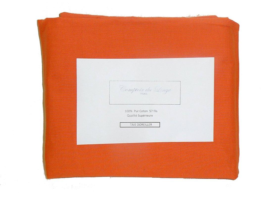 Comptoir du linge Lot de 2 Taies doreiller Unies Coton 45 x 70 cm Ecru