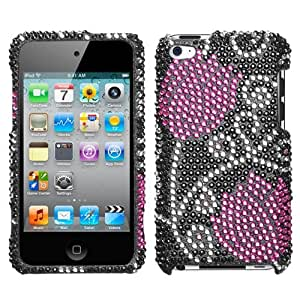Hard Plastic Snap on Cover Fits Apple iPod Touch 4 (4th Generation) Tulip Full Diamond/Rhinestone (Please carefully check your device model to order the correct version.)