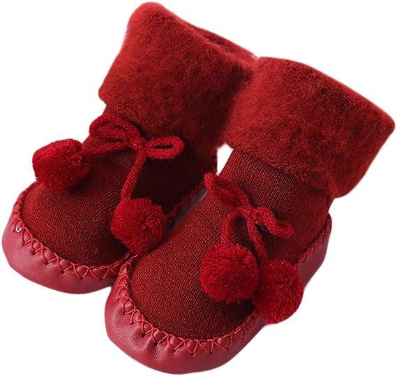 LuckyBB Christmas Newborn Baby Step Socks 0M-24M Xmas Boys Girls Floor Socks Anti-Slip Indoor Slipper Socks Crib Shoes