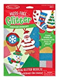 make your own ornament - Melissa & Doug Mess-Free Glitter Christmas Ornaments - 6 Ornaments, 7 Glitter Sheets