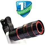 Kmnic Mobile Camera 8X Zoom Wide Angle HD Telescope Lens with Blur Background and Universal Clip Holder for All Latest Android Smartphones
