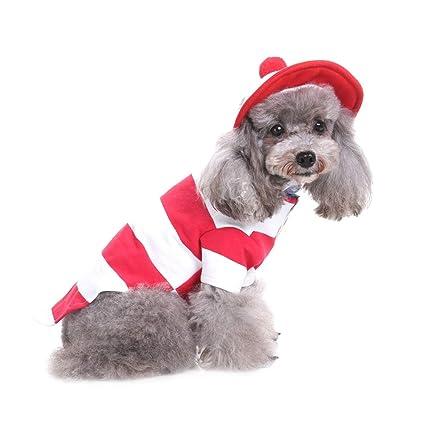 Wansan Ropa para Perros Ropa de Navidad para Perro Perro pequeño Gato Mascota Ropa de Abrigo