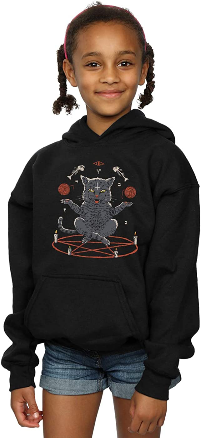 Vincent Trinidad Girls Devious Cat Hoodie