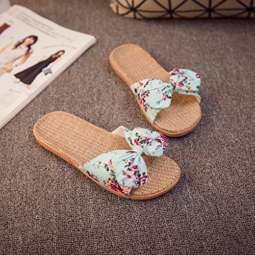 cool slippers 38 couples office slippers soft slip home fankou home anti floor home girls blue 37 interior thick summer summer Linen RwxxSqv56