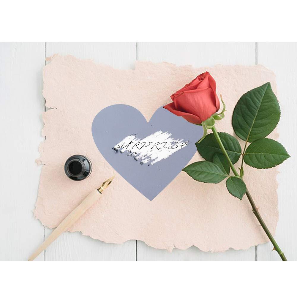 50 Silber Rubbel Etiketten Herz Rubbelkarten Rubbelsticker Hochzeit /Überraschung Rubbel Folie Rubbelaufkleber Rubbellos Scratch Off Label Card 7x8cm