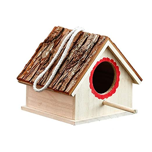 Hkwshop Jaula para pájaros Jardín Creativo Decoración Nido de ...