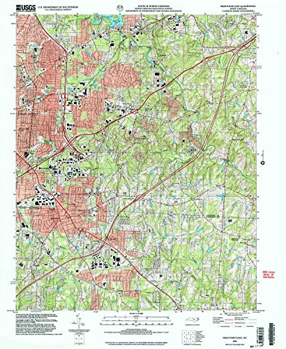 Flatland Fork (High Point East NC topo map, 1:24000 scale, 7.5 X 7.5 Minute, Historical, 2002, updated 2004, 26.9 x 22 IN - Tyvek)