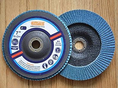 "Premium FLAP DISCS 7"" x 7/8"" Zirconia 60 grit Grinding Wheel grinder tool - 5pcs Pack"