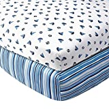 Babies'R'Us Nautical Sailboat Sateen Crib Sheet - 2 Pack