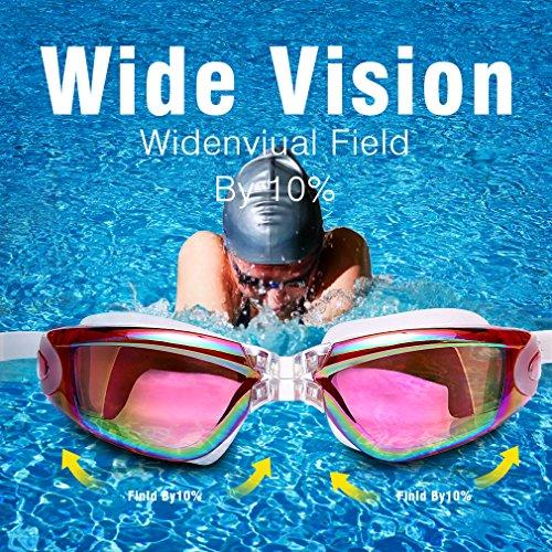 Gaoge Swim Goggles Swimming Goggles Swim Cap Case Nose Clip Ear Plugs Triathlon Swim
