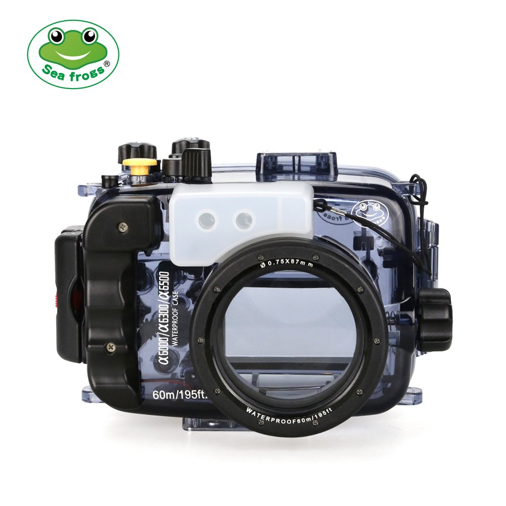 seafrogs 60 m/195ft carcasa submarina para cámara para Sony ...