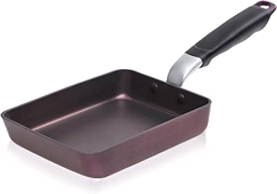 TeChef - Tamagoyaki Japanese Omelette Pan/Egg Pan, Coated with New Safe Teflon Select - Colour Collection/Non-Stick Coating (PFOA Free) / (Aubergine Purple) / Made in Korea (Medium)