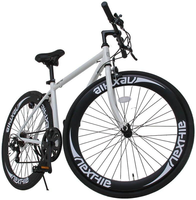 NEXTYLE(ネクスタイル)700Cクロスバイク アルミフレーム シマノ7段変速 ディープリム 前輪クリックリリースNEXTYLE CNX-7006