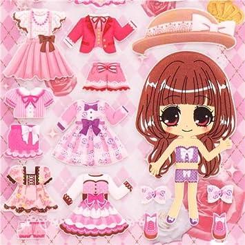 Pegatinas 3d Con Muñecas Para Vestir Y Trajes Rosa Niña De