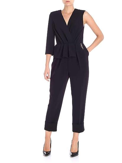 70fbdd56e032 Elisabetta Franchi Women s Tu10986e2110 Black Polyester Jumpsuit   Amazon.co.uk  Clothing
