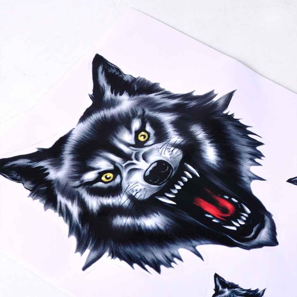Adesivi per auto lupo testa moto moto porta decalcomania distintivo paster film emblema adesivi decorazione
