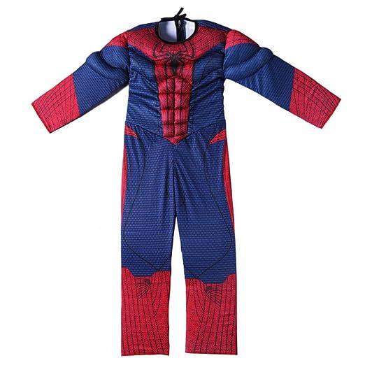 JUFENG Increíble Traje Azul De Spiderman para Niños ...
