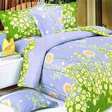 Image of Blancho Bedding - [Dandelion Dream] Luxury 6PC Mini Bed In A Bag Combo 300GSM (King Size) Home and Kitchen