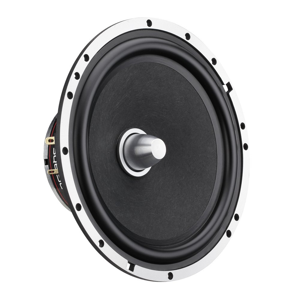 Superior Bass Response 260 WATTS Max Sleek Compact Design with Chrome Finish DS18 EXL-SQ4-4-Inch 3-OHMS High Sound Quality Speaker SET OF 2
