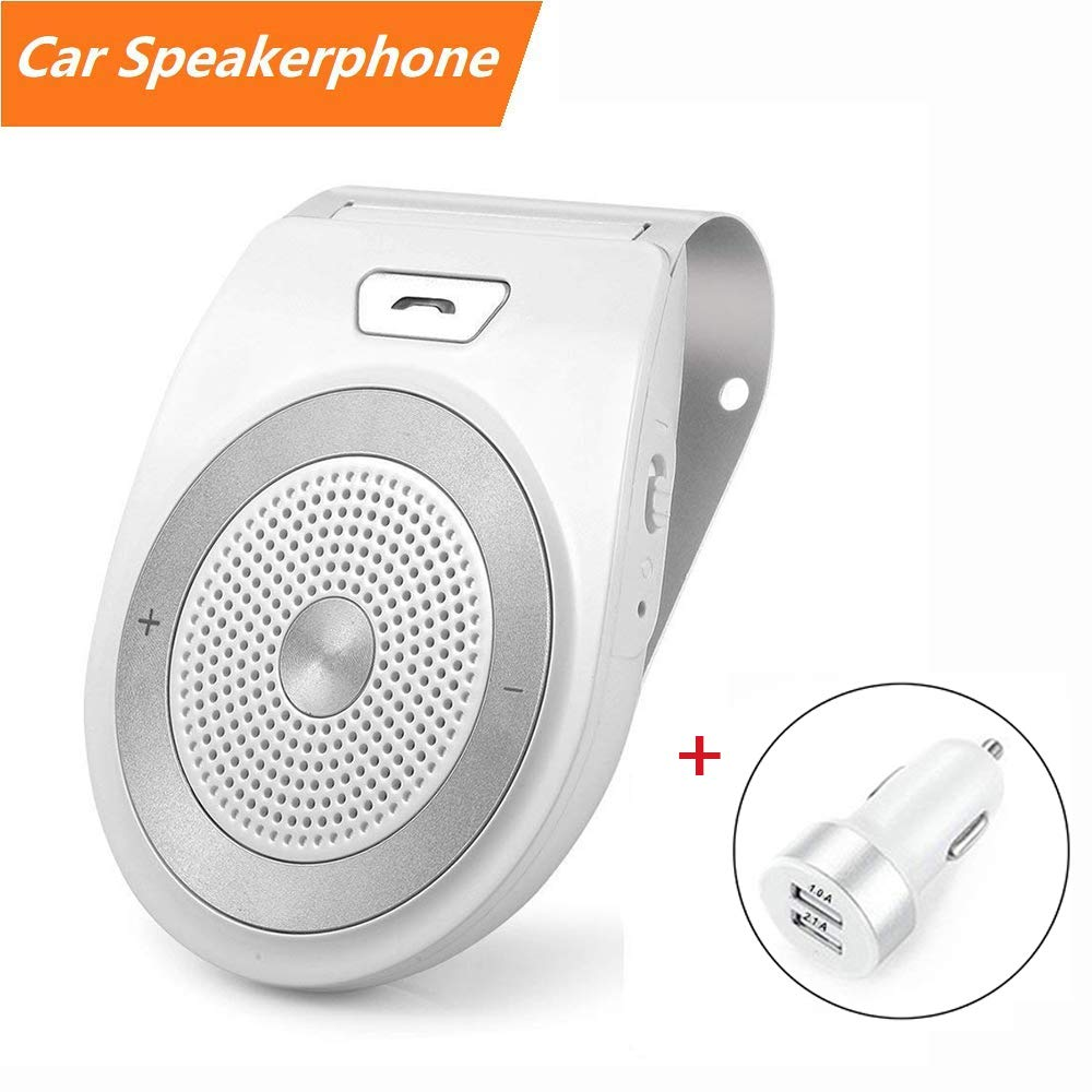 15 hr Talk time Samsung Smartphones//Tablet Handsfree 1600 hr Standby time Aduro TrailWay Portable Wireless in Car Visor Speaker for All Universal Bluetooth Enabled Devices iPhone Safe Driving