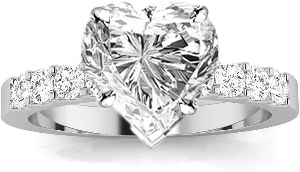 1 Carat Classic Prong Set Diamond Engagement Ring (I Color,...