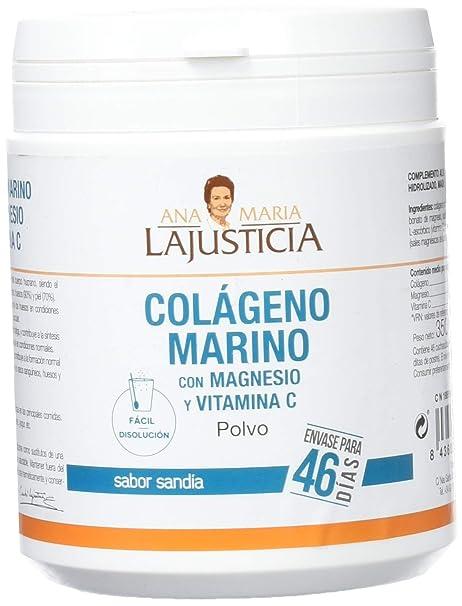 ANA MARIA LAJUSTICIA COLAGENO MARINO + MG + VIT C 350 G POLVO: Amazon.es: Salud y cuidado personal
