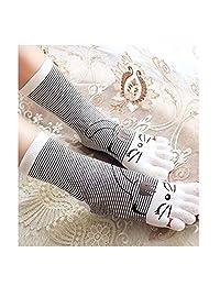 women socks cartoon cat and pig Cotton 5 Toe Socks