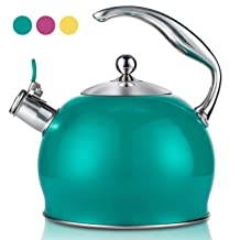 Best Stainless Steel Whistling Teakettle Tea Pot Kettle Stovetop Teapot Stove with detachable anti-hot gloves