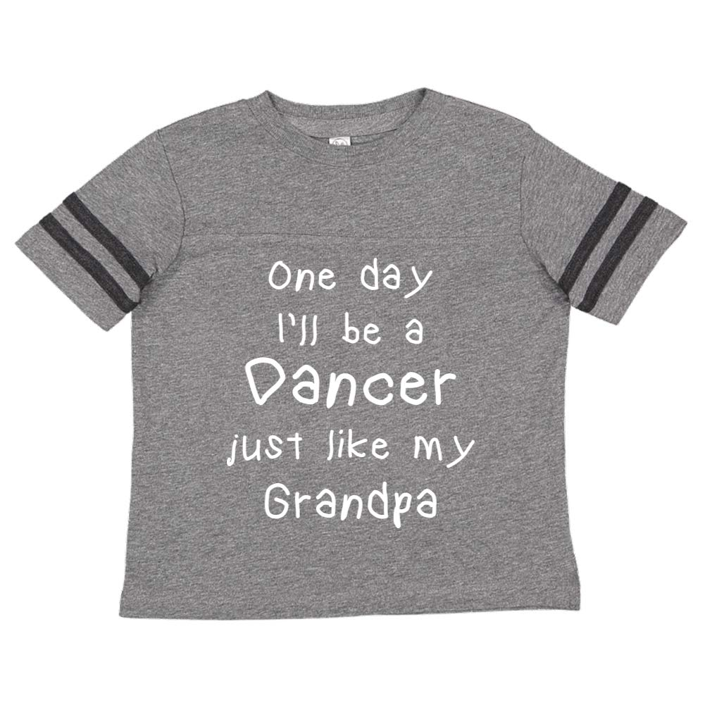 Toddler//Kids Sporty T-Shirt One Day Ill Be A Dancer Just Like My Grandpa