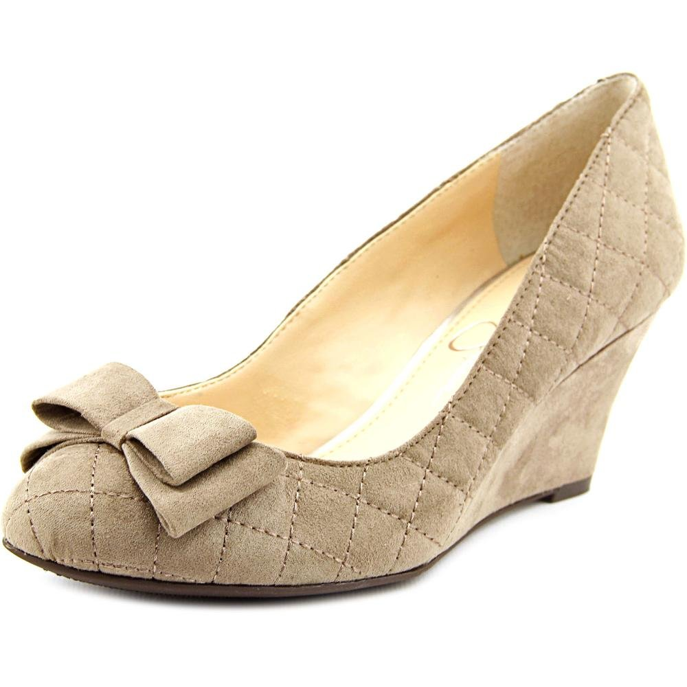Jessica Simpson Women's Sincerely Wedge Pump B00XJX7K12 8 B(M) US Slater Taupe Lux Kid Suede
