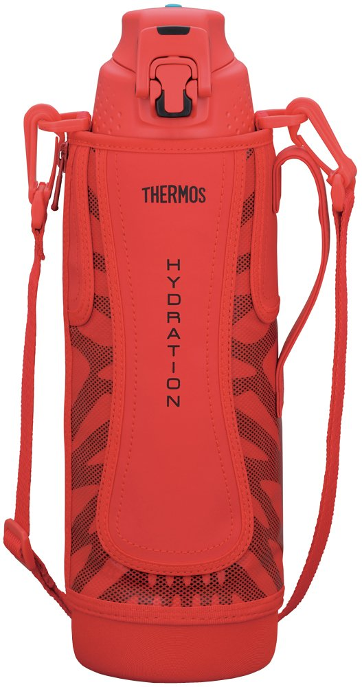 Thermos vacuum insulation sports bottle [one-touch open type] 1.5L Red Black FFZ-1501F RBK