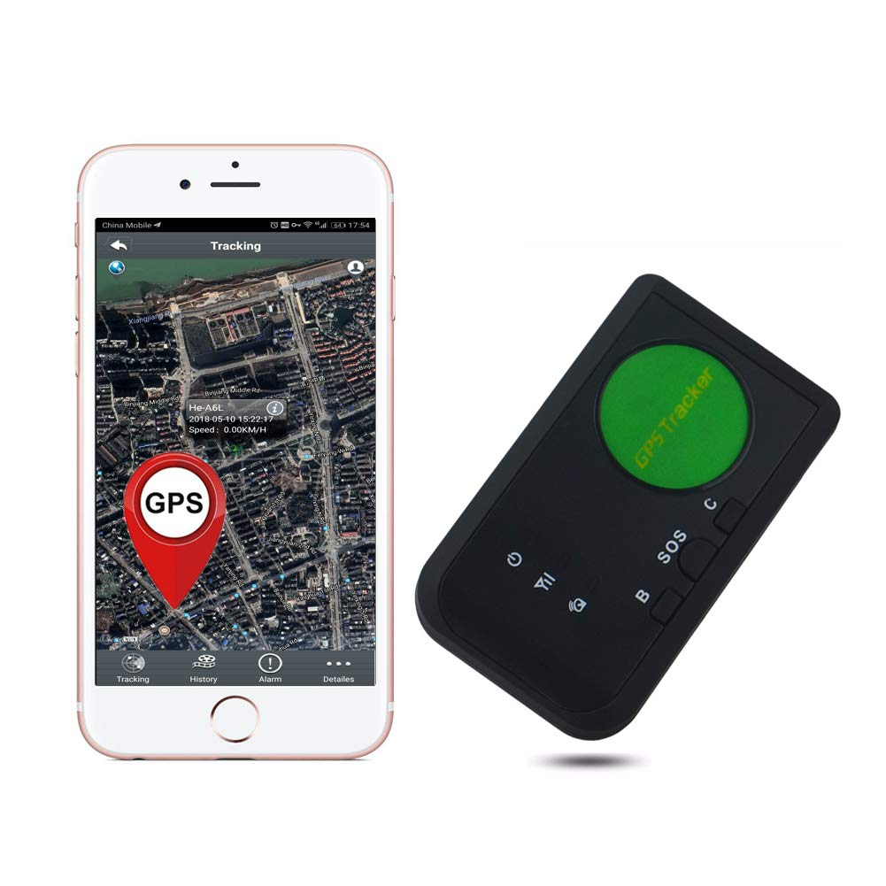 AUENLIPHTO 3G GPS Tracker for Vehicle Kids Elders Real-time Portable Wireless Personal No Monthly Fee WCDMA Global Tracking Device-Fee car Charger kit (Black)