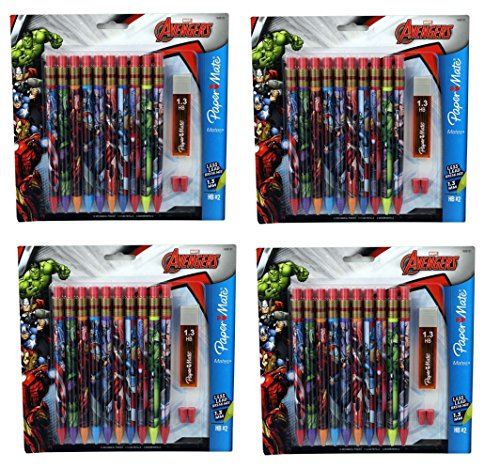 Papermate Avengers Mechanical Pencils 10 Erasers 4pack product image