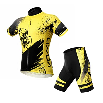 230028e9e Image Unavailable. Image not available for. Color  Lixada Breathable  Comfortable Short Sleeve Padded Shorts Cycling Clothing Set Riding  Sportswear