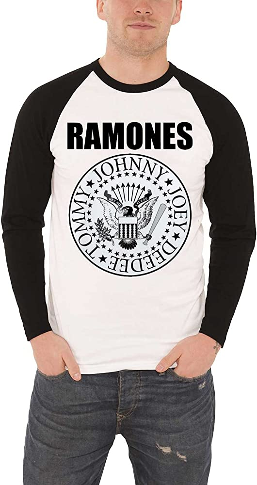 Ramones Presidential Seal Logo Official White Mens T-shirt